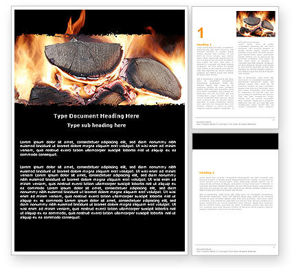 Bonfire Word Template, 05443, General — PoweredTemplate.com