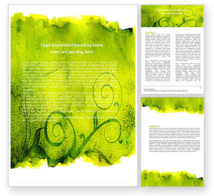 Abstract/Textures: Green Ornament Word Template #05450
