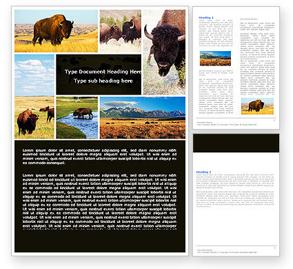 Bison Word Template