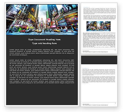 Times Square Word Template, 05456, Construction — PoweredTemplate.com