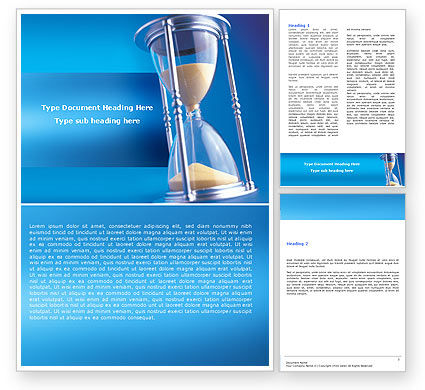 Consulting: Hourglass Word Template #05461
