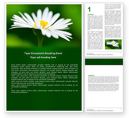 Nature & Environment: Daisy Chain Word Template #05462