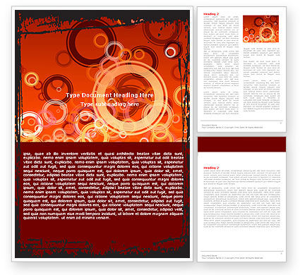 Abstract/Textures: Red Circles Word Template #05465