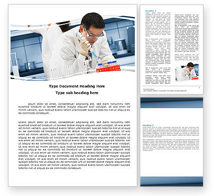 Technology, Science & Computers: Medical Testing In The Laboratory Word Template #05471
