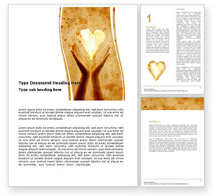 Religious/Spiritual: Sharing Love Word Template #05472