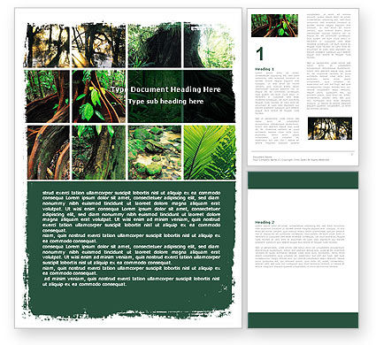 Nature & Environment: Jungle Word Template #05476