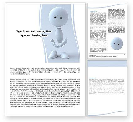 3D: 3d menschliches modell Word Vorlage #05489