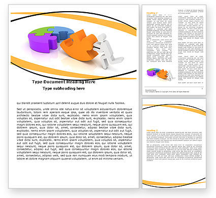 Matching Piece Word Template, 05496, Consulting — PoweredTemplate.com