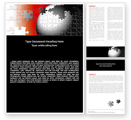 World Fragments Word Template, 05507, Business Concepts — PoweredTemplate.com