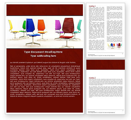 Business Concepts: Chairs Word Template #05508