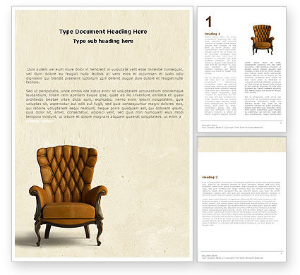 Armchair Word Template