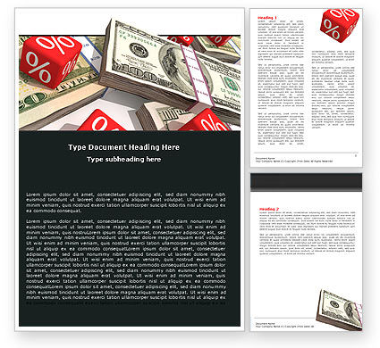 Financial/Accounting: Dollars Investment Word Template #05515