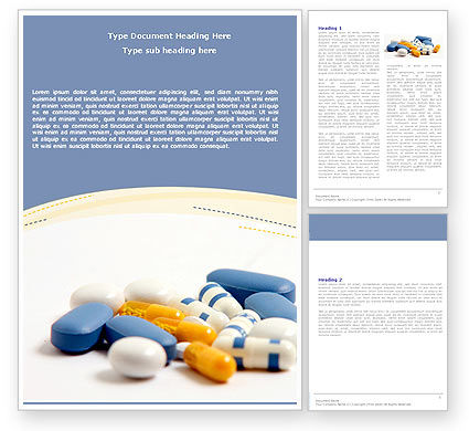 Prescription Word Template, 05517, Medical — PoweredTemplate.com
