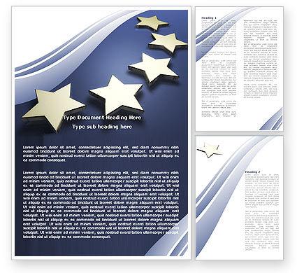 Abstract/Textures: Plantilla de Word - estrellas de la unión europea #05523