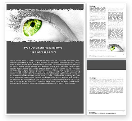 Green Eye Word Template, 05524, Consulting — PoweredTemplate.com