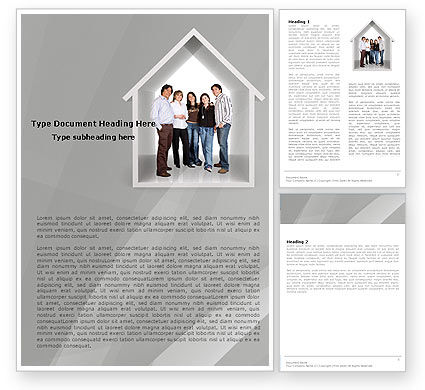 Consulting: House For Family Word Template #05531