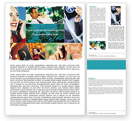 Telecommunication: Phone Communication Word Template #05534