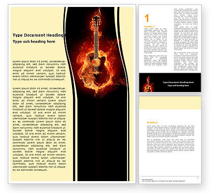Art & Entertainment: 爵士吉他Word模板 #05536