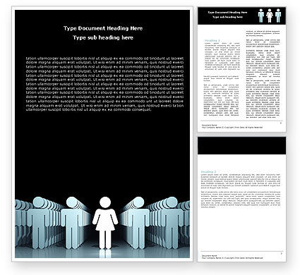 Gender Inequality Word Template, 05537, Consulting — PoweredTemplate.com