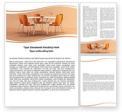 Careers/Industry: Dining Room Word Template #05545