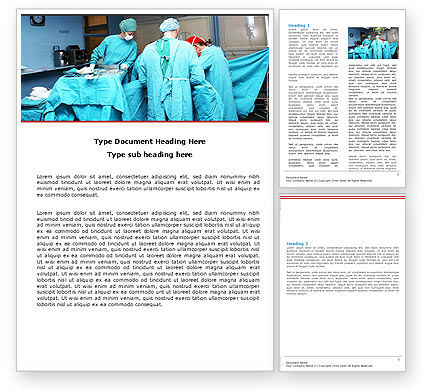 Medical: Procedure In Operating Room Word Template #05552