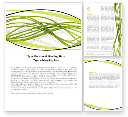 Abstract/Textures: Green Fibers Word Template #05553