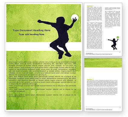 Playing Ball Word Template, 05559, Sports — PoweredTemplate.com