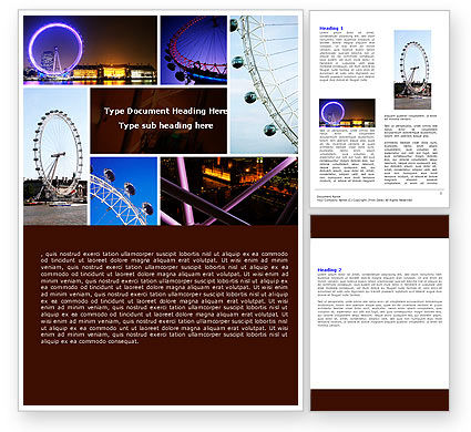 Construction: Millennium Wheel Word Template #05560