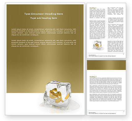 Financial/Accounting: Frozen Dollar Word Template #05565