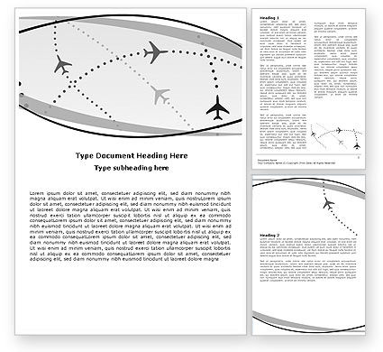 Air Traffic Word Template, 05573, Cars/Transportation — PoweredTemplate.com