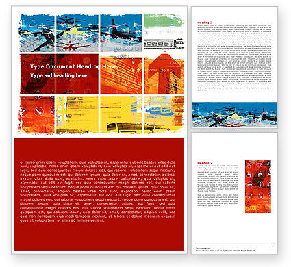 Transportation Collage Word Template, 05576, Cars/Transportation — PoweredTemplate.com