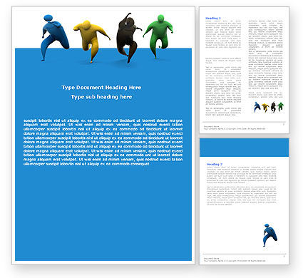 Competitors Word Template, 05577, Consulting — PoweredTemplate.com
