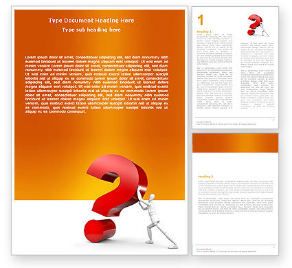 Question Word Template, 05578, Consulting — PoweredTemplate.com