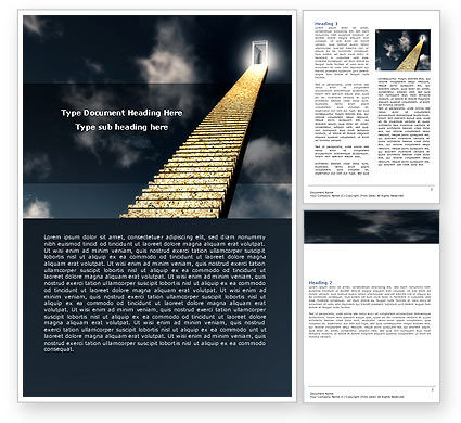 Business Concepts: Stairway To Heaven Word Template #05581