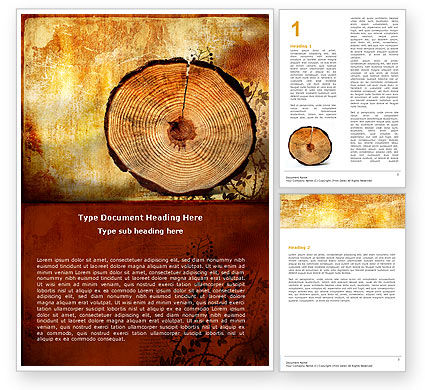 Growth Rings Word Template, 05582, Careers/Industry — PoweredTemplate.com