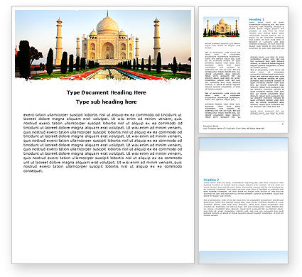 Taj Mahal Word Template