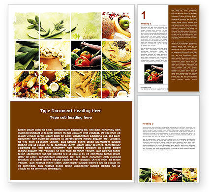 Food & Beverage: Gifts of Nature Word Template #05587