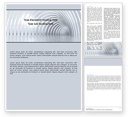 Gray Tunnel Word Template, 05588, Construction — PoweredTemplate.com