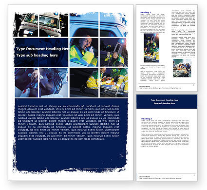 Ambulance Emergency Word Template, 05590, Medical — PoweredTemplate.com