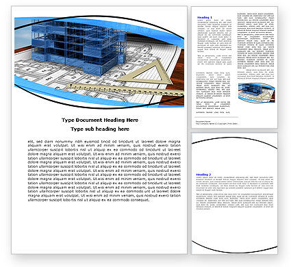 Construction: Office Building Planning Word Template #05599