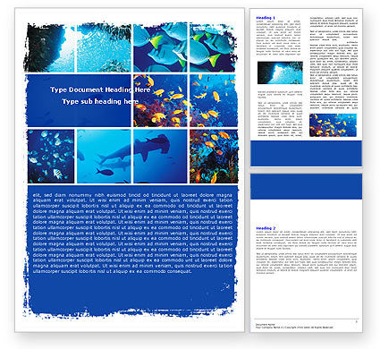 Nature & Environment: Underwater Life Word Template #05603