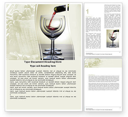Wine Word Template, 05605, Careers/Industry — PoweredTemplate.com