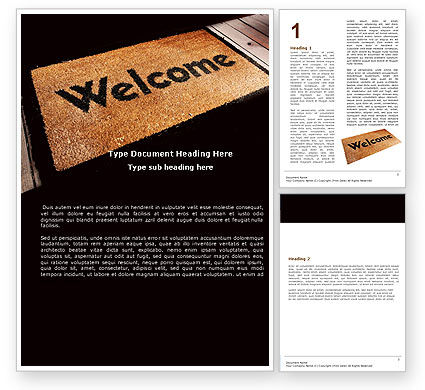 html welcome page template - welcome carpet word template 05615
