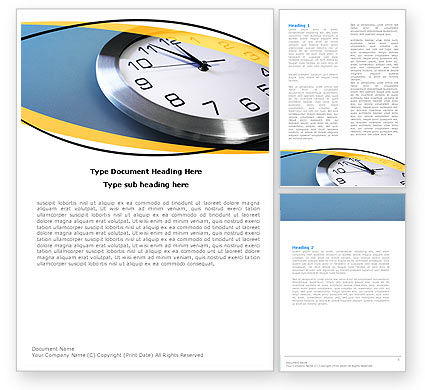 Timeline Word Template, 05618, Business — PoweredTemplate.com