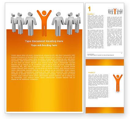 Careers/Industry: Orange Winner Word Template #05622