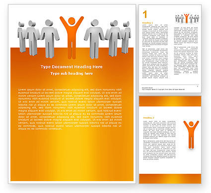 Careers/Industry: Modèle Word de orange gagnant #05622