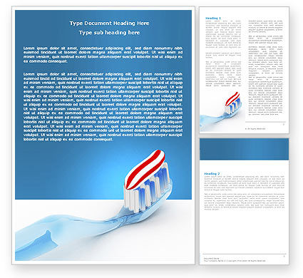 Toothpaste Word Template, 05623, Medical — PoweredTemplate.com