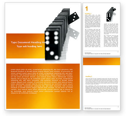 Consulting: Dominoes Falling Effect Word Template #05638