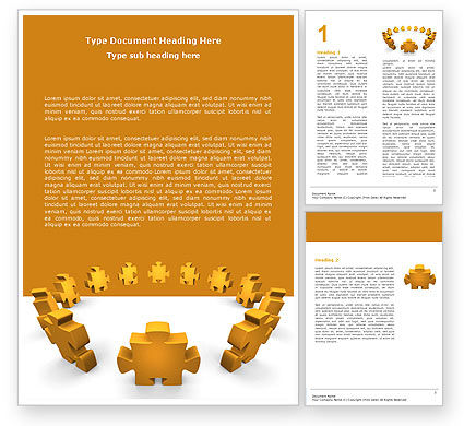 Yellow Jigsaw Word Template, 05640, Consulting — PoweredTemplate.com