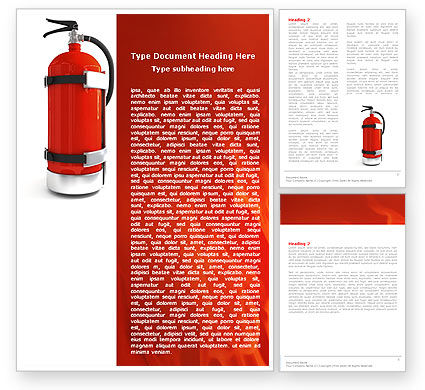 Careers/Industry: Fire Extinguisher Word Template #05641